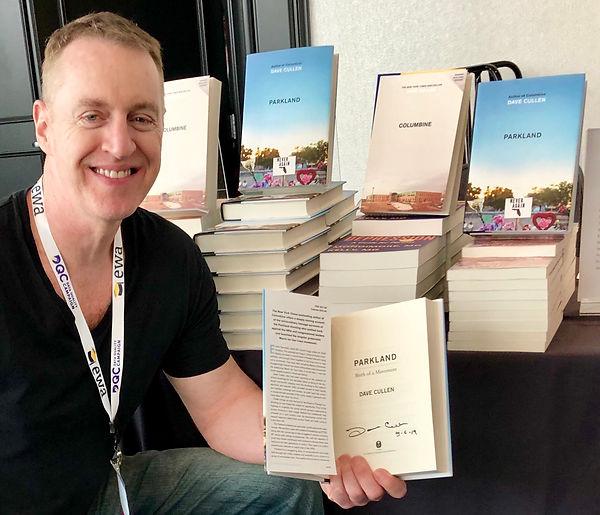 Dave Cullen autographed Parkland Columbine EWA conference 2019