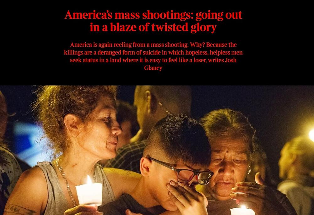 Times of London mass murder Dave Cullen Josh Glancy Las Vegas shooting