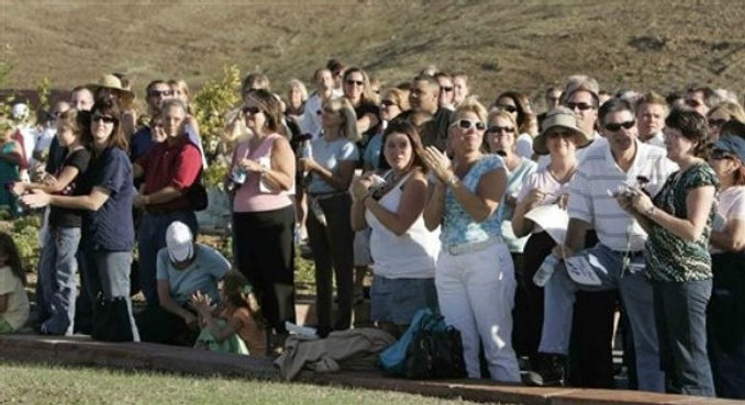 Columbine memorial dedication dove release applause
