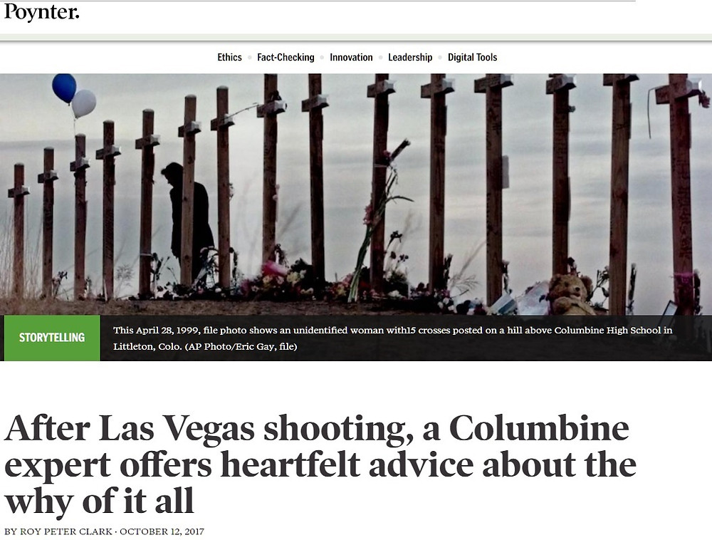 Poynter Institute interview Columbine Las Vegas shooting Dave Cullen