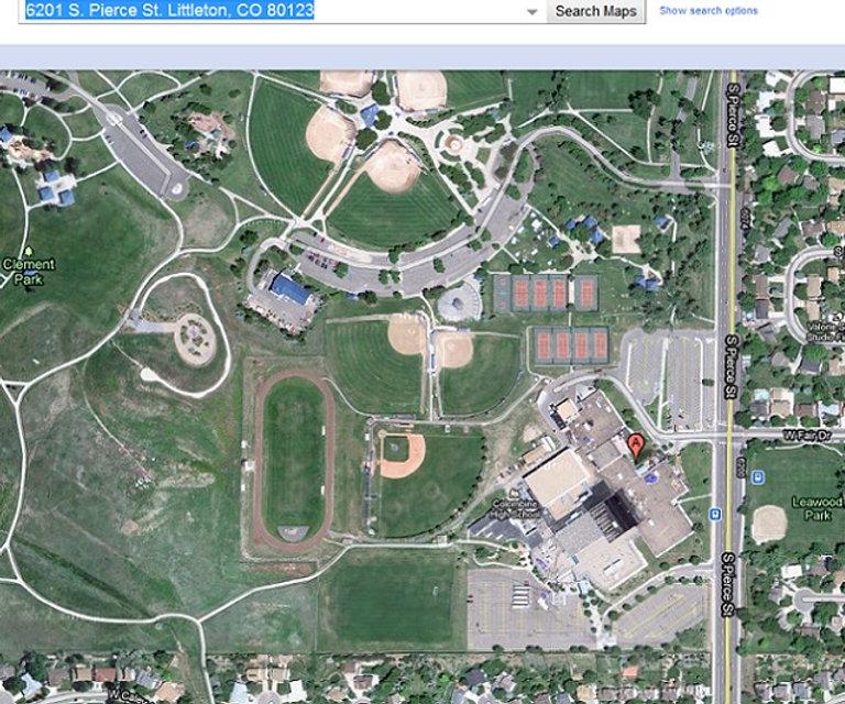 Columbine attack satellite photo wide April 20