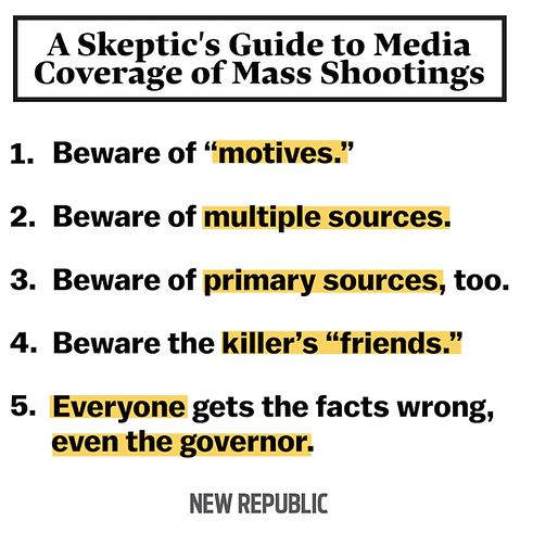 Skeptic's Guide to Media, School Shootings, Mass Murder