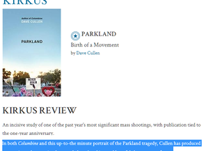 Kirkus dubs 'Parkland' a 'masterpiece'--1st review!