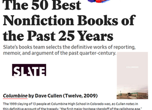 Slate names COLUMBINE 1 of 50 Best Nonfiction Books of the quarter century