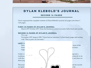 Dylan Klebold's full journal added to revamped Columbine Guide