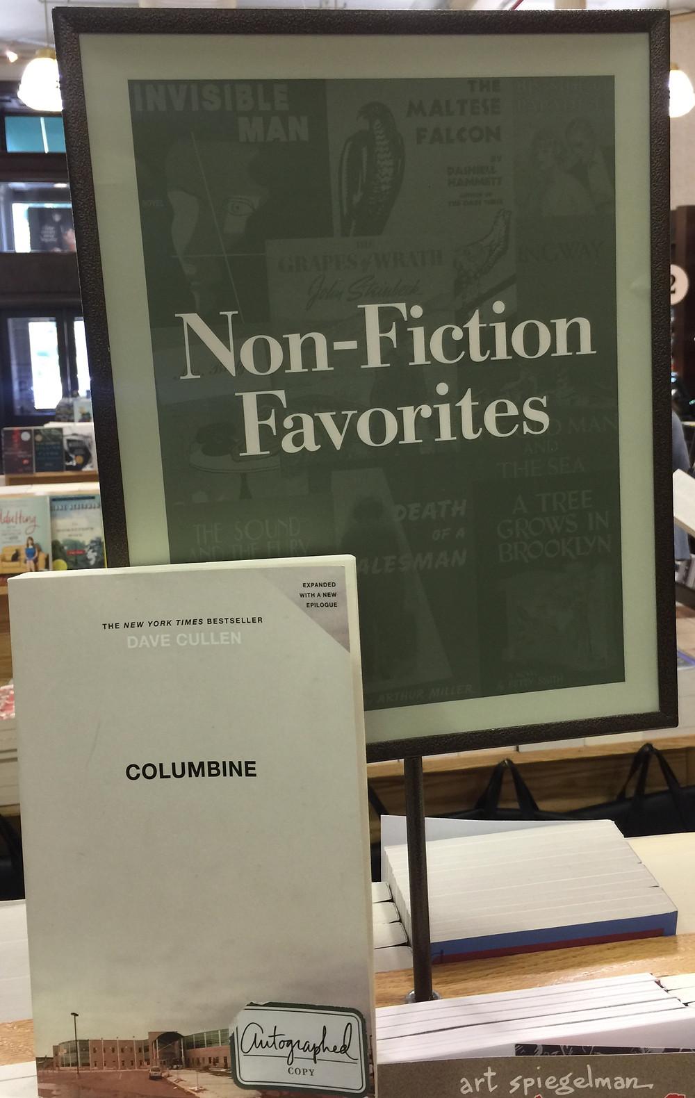 Columbine autographed Barnes & Noble Non-Fiction Favorites true crime
