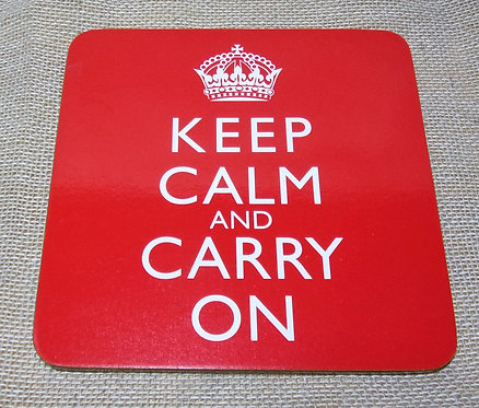 Keep Calm & Carry On Coaster