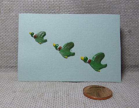 Set of 3 flying ducks