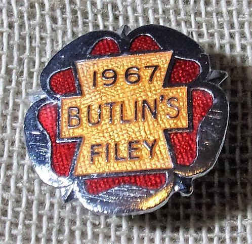 Butlin's Badge Filey 1967