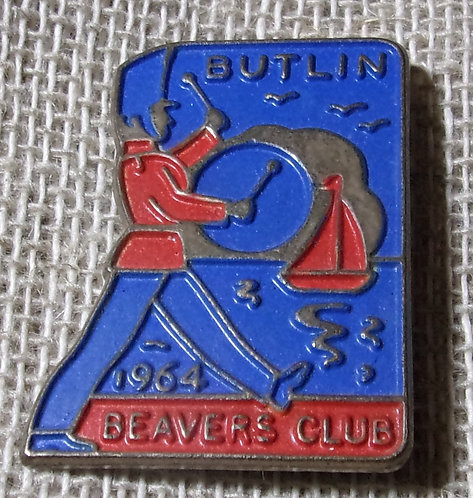Butlin's Beaver Club Badge 1964