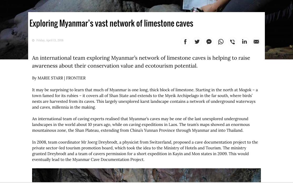 Frontier Myanmar (April 2018)