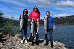 Our Tax staff salmon fishing with clients