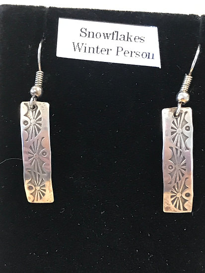 Snowflakes Winter Person Earrings