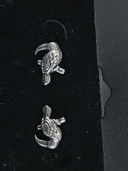 Toucan Sterling Silver Earrings