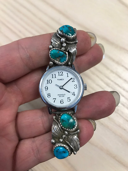 Timex Native American Women's Silver and Turquoise Watch