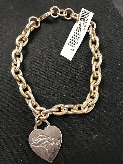 Sterling Silver Broncos Bracelet