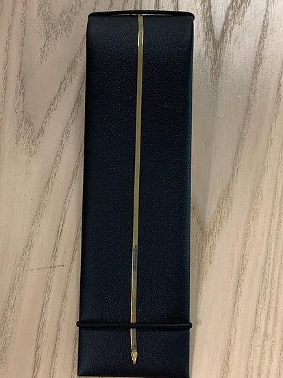 14k Gold Herring Bone Bracelet