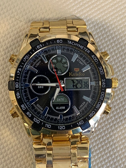 Men's KaleTco Gold Colored Watch