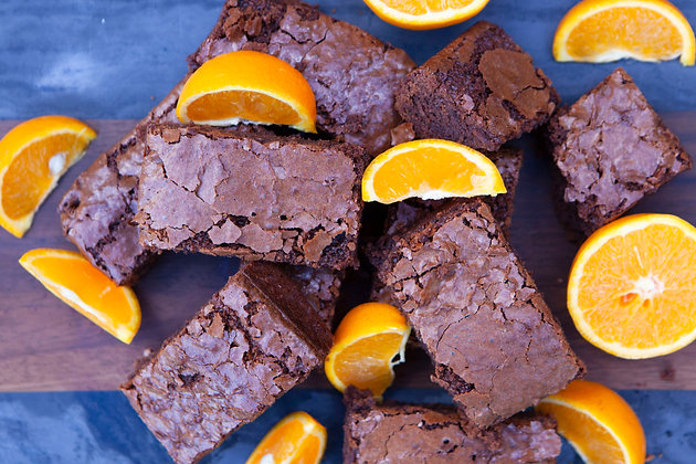 Rich Dark Chocolate Orange Brownies