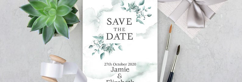 Boho Winter - Save the Date -