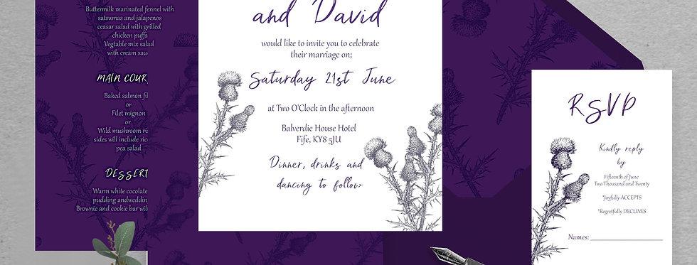 Scottish Thistle Invite Pack