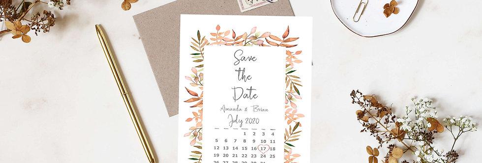 Boho Autumn - Save the Date -