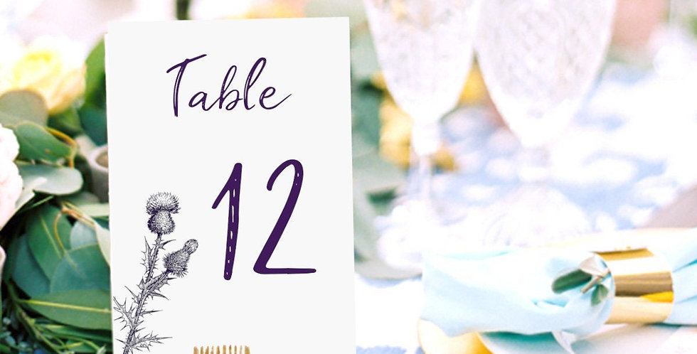 Scottish Thistle Table Numbers