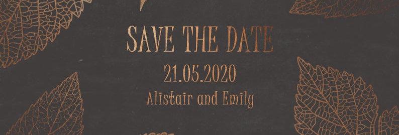 Modern Copper Foil - Save the Date