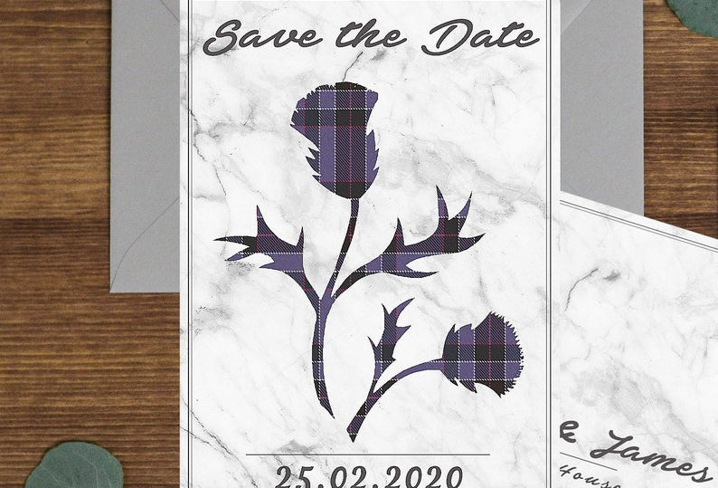 Marble Thistle - Save the Date -