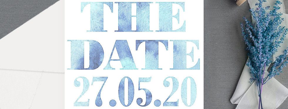 Modern Text - Save the Date -