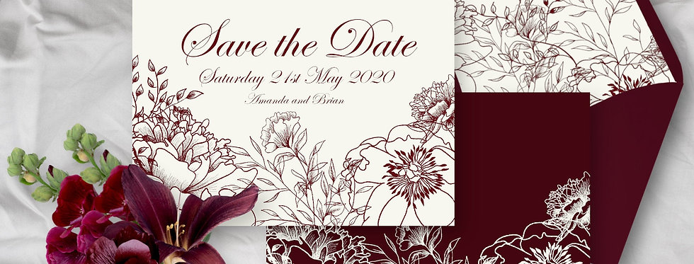 Elegant Floral - Save the Date -