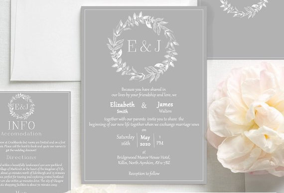 Elegant Olive Leaf Invite Pack