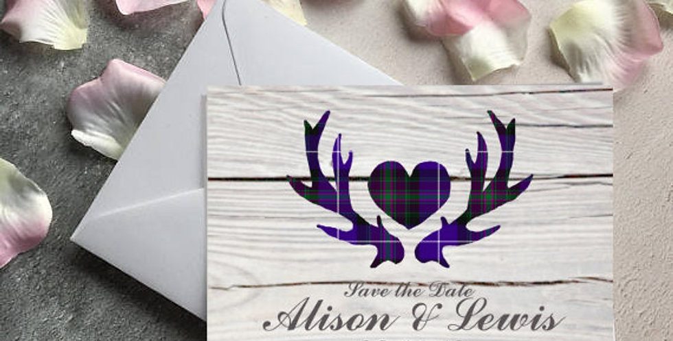 Tartan Antlers - Save the Date -