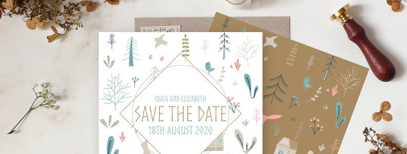 Nordic Rustic - Save the Date -