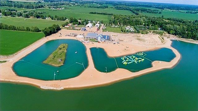 Aerial view of Lake Arvesta Farms