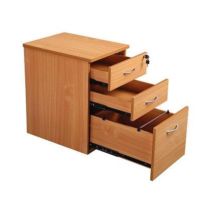 3 Drawer Mobile Pedestal - Beech