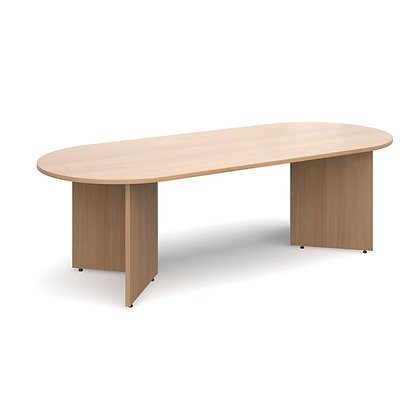 Radial Ending Boardroom Table - Beech