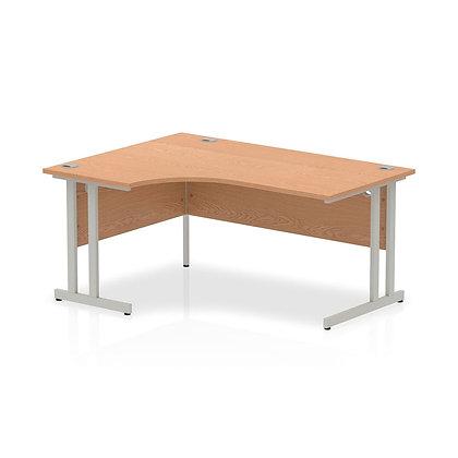 Left Hand Wave Desk - 1600mm - Beech