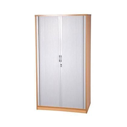 Tambour Cabinet - Beech - 2000mm