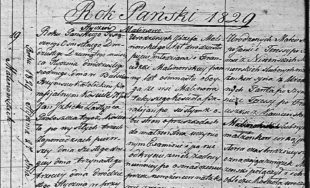 Record from parish near Białystok