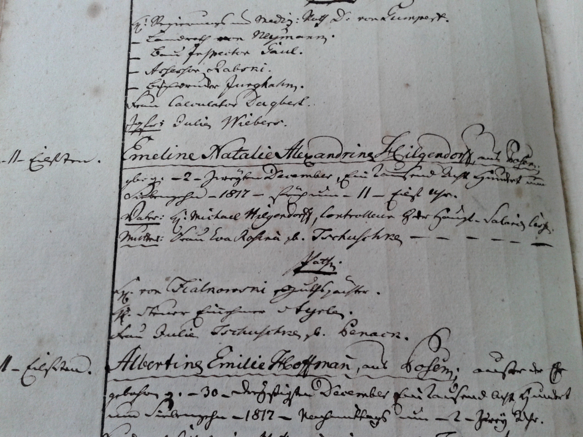 Protestants' records