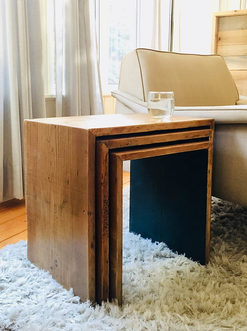 wood nesting tables (sold)