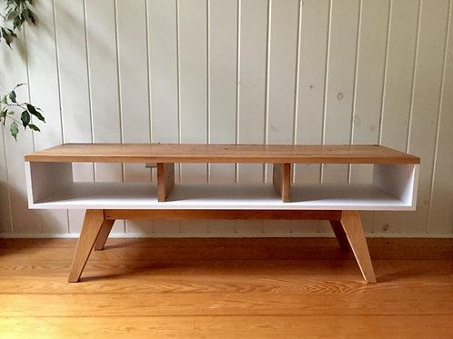 mixed wood media bench