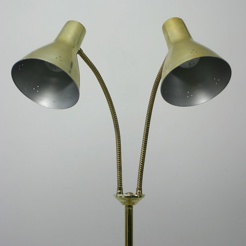 vintage brass floor lamp (sold)