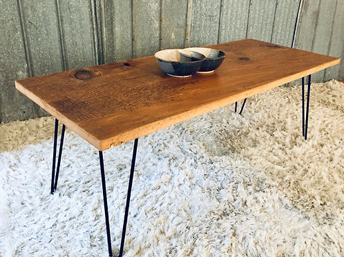 wood and steel coffee table (sold)