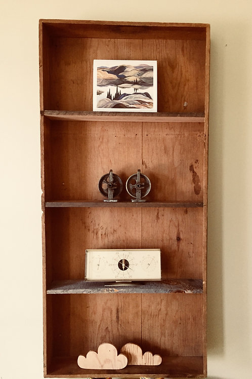 upcycled wood wall shelf (sold)