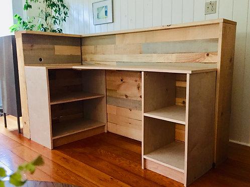 wood desk/divider