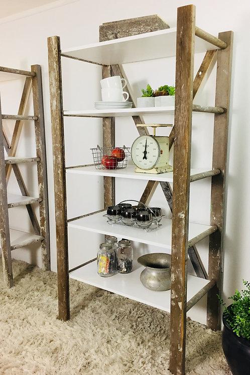 upcycled ladder shelves (sold)