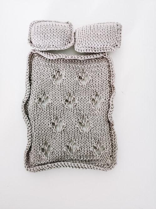 Woolanka for baby|Kołderka + poduszki dla lalki