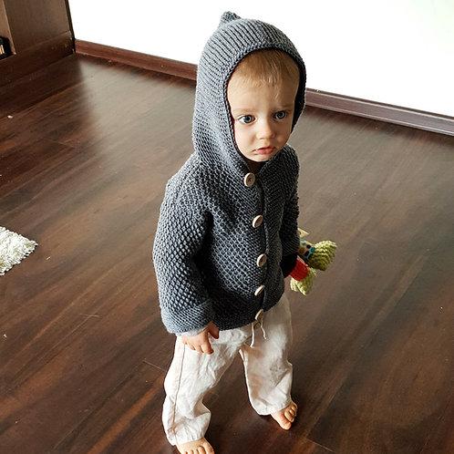 Woolanka for baby|Sweterek Robin Hood